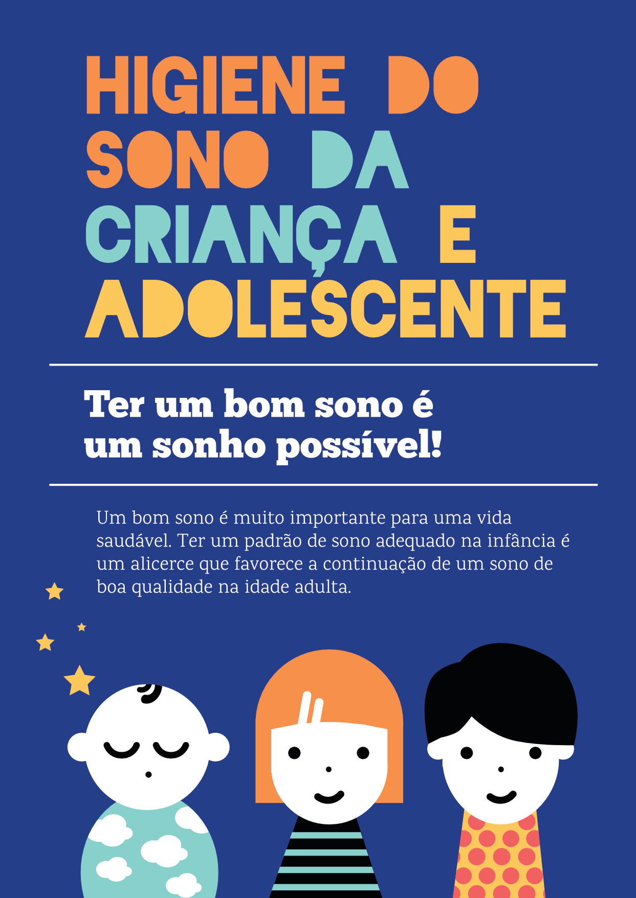 Higiene do sono da criança e do adolescente